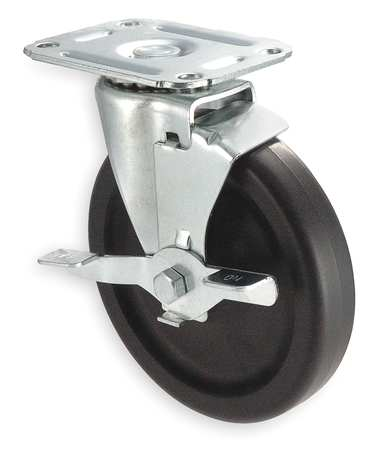 Swivel Plate Castr, Polyolfin, 5 in, 145 lb
