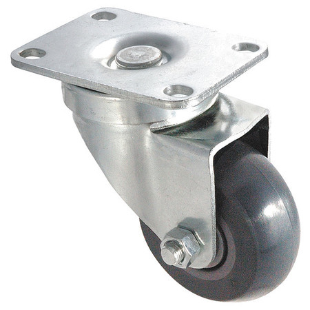 Swivel Plate Caster, Poly, 3-1/2 in., 350 lb., C
