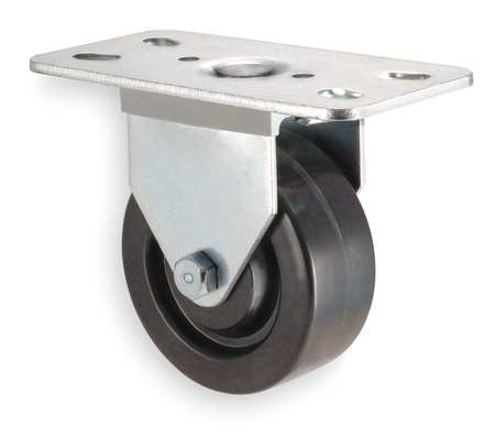 Rigid Plate Caster, Phenolic, 3 in., 250 lb