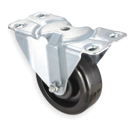 Rigid Plate Caster, Phenolic, 4 in., 450 lb