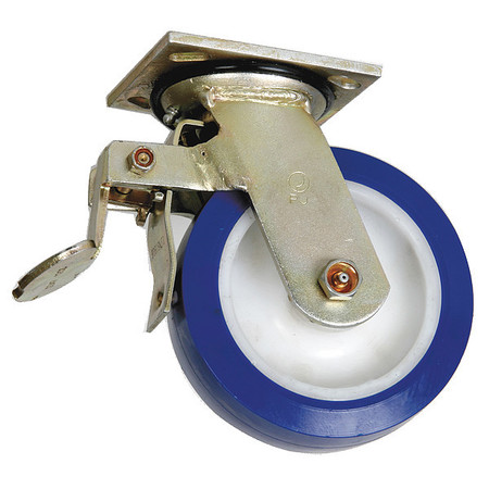 Swivel Plate Caster, Polyurthane, 5 in., 750 lb