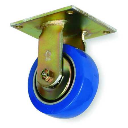 Rigid Plate Caster, Poly, 5 in., 1050 lb., D