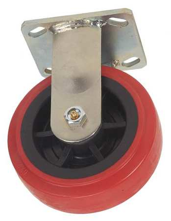1ULK3 Rigid Plate Caster, Poly, 5 in., 750 lb., Rd