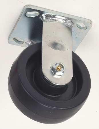 Rigid Plate Caster, Polyolfin, 6 in, 900 lb