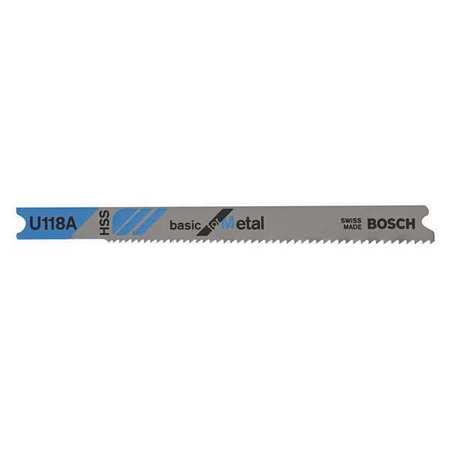 Bosch High Speed Steel Jigsaw Blade U shank 3 5 8 In L Pk5 U123X