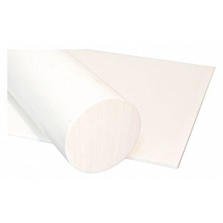 Rod, PET-P, White, 1 1/2 Dia x6 Ft L