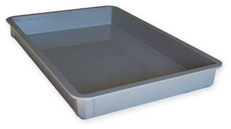 Stacking Container,  HD,  L 25 3/4,  D 3,  Gray