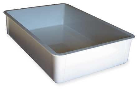 Stacking Container, HD, L 25 3/4, D 6, White