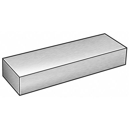 Flat Stock, Al, 6061, 2 x 2 1/2 In, 3 Ft