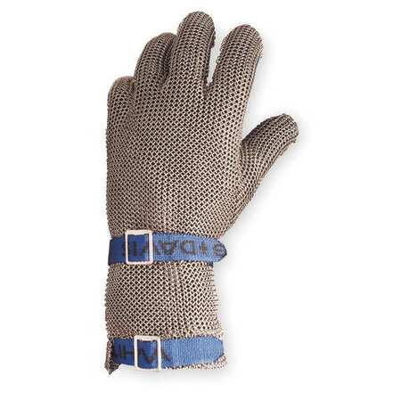 Cut Resistant Glove, Silver, Reversible, XL