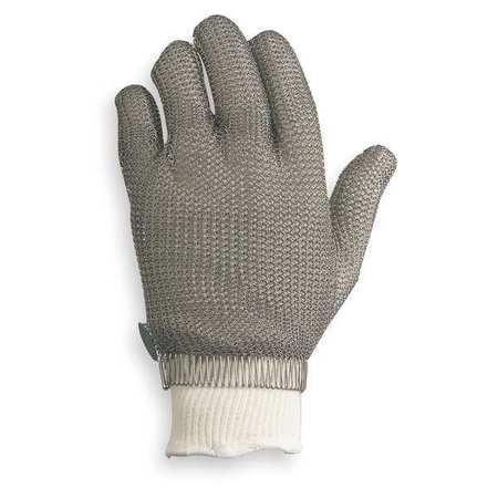 Cut Resistant Glove, Silver, Reversible, M