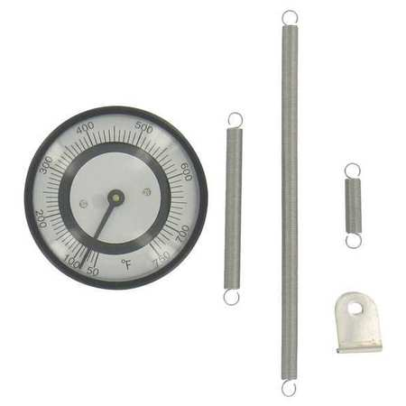 Bimetal Thermom, 2 In Dial, -50 to 250F
