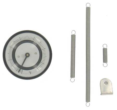 Bimetal Thermom, 2 In Dial, 70 to 500F