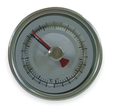 Bimetal Thermom, 3 In Dial, -40 to 160F
