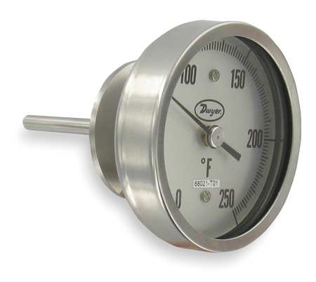 Bimetal Thermom, 5 In Dial, -40 to 160F