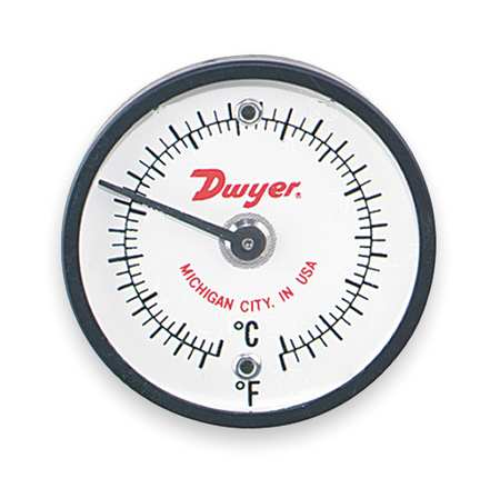 Bimetal Thermom, 2 In Dial, 50 to 750F