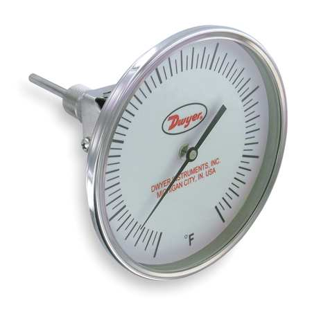Bimetal Thermom, 5 In Dial, 0 to 500F