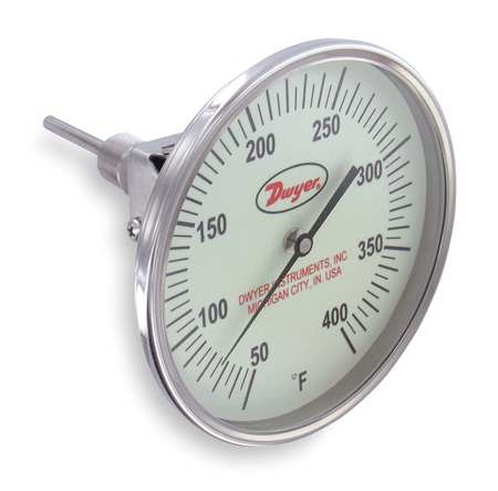 Bimetal Thermom, 5 In Dial, 50 to 400F