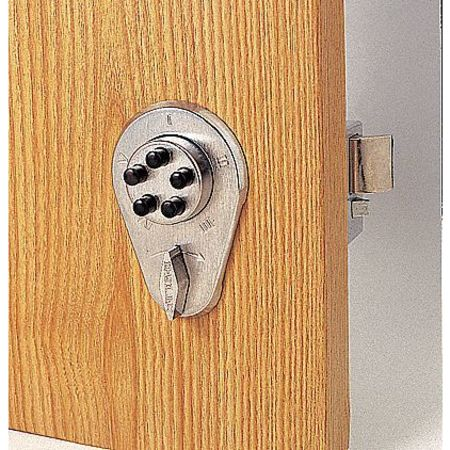 Pushbutton Deadbolt, Satin Chrome
