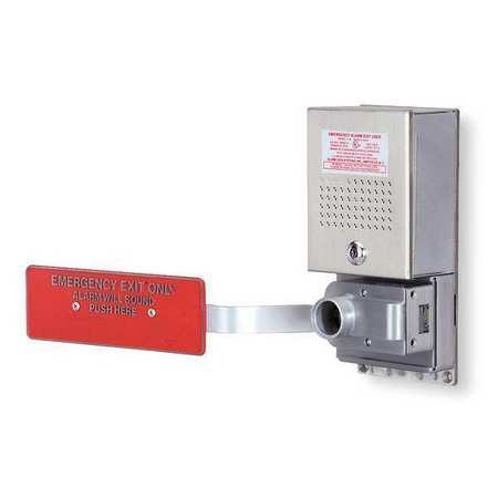 Exit Door Alarm, Horn, 95dB, Chrome