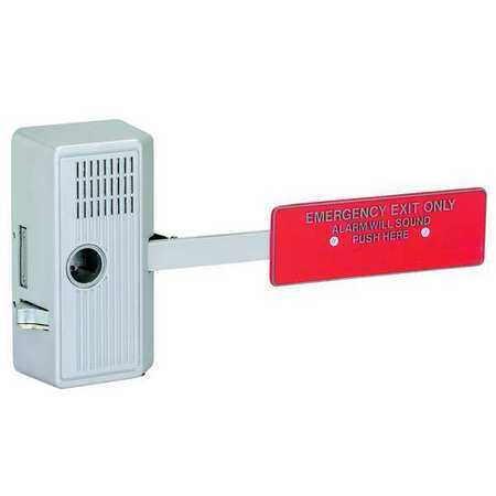Exit Door Alarm, Delayed Egress, 99dB, Alum