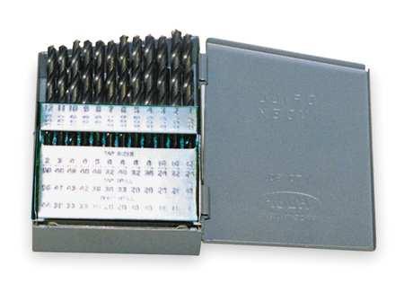 Jobber Drill Set, 60 PC, Wire, HSS, 118 Deg