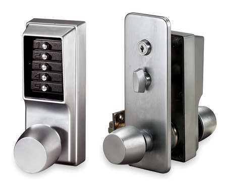 Kaba Push Button Lock Entry Satin Chrome 1031 26d 41