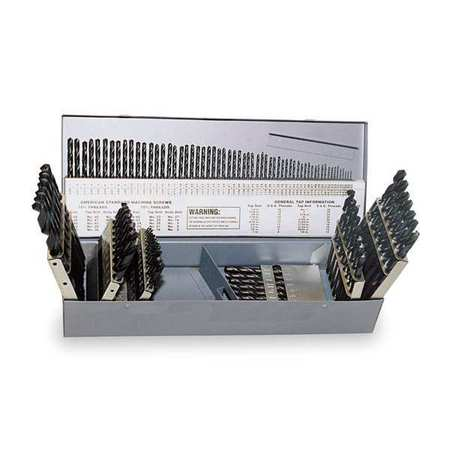 Jobber Drill Bit Set, 115pc, 1/16 to 1/2In