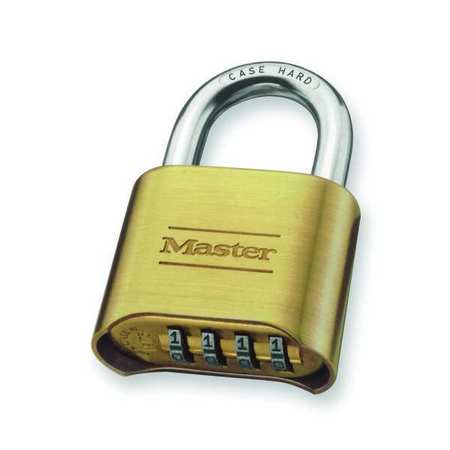 Combination Padlock, Bottom, Brass