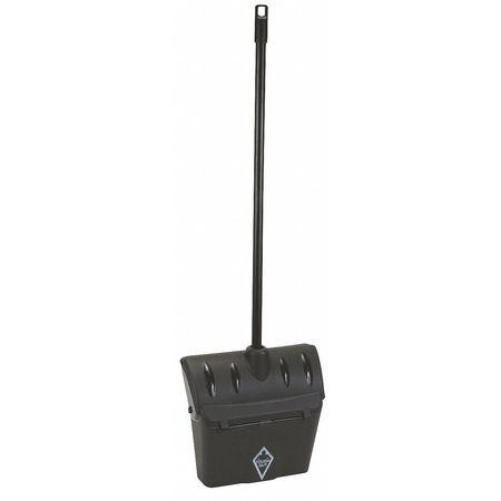 Long Handled Dust Pan, Black, Plastic