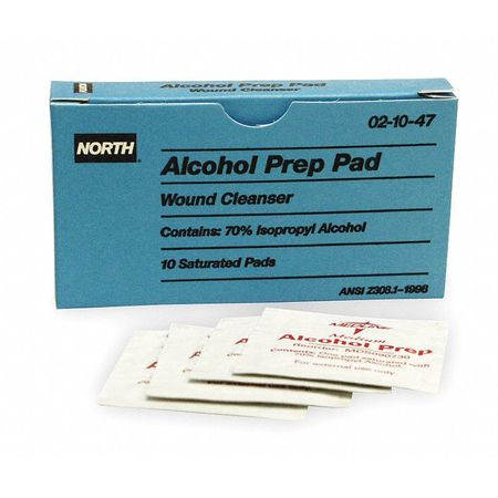 Alcohol Prep Pads, 1 In. x 2-1/2 In, PK10