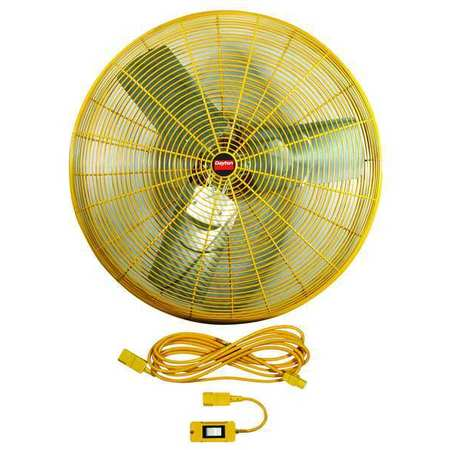 "24"" Safety Yellow Air Circulator,  3800/6100 cfm"