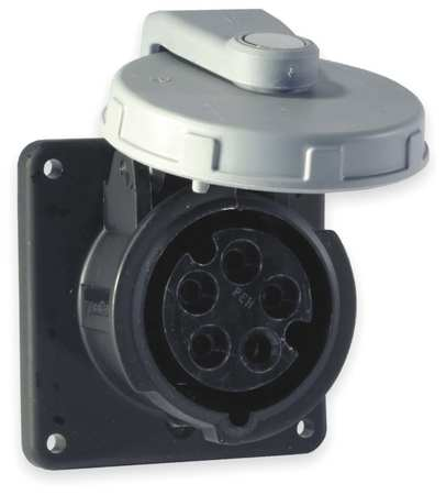 IEC Pin and Sleeve Receptacle, 100A, 600V