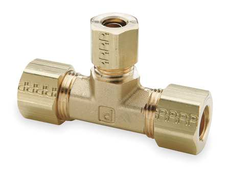 "3/8"" x 3/8"" x 1/4"" Compression Brass Union Tee 10PK"
