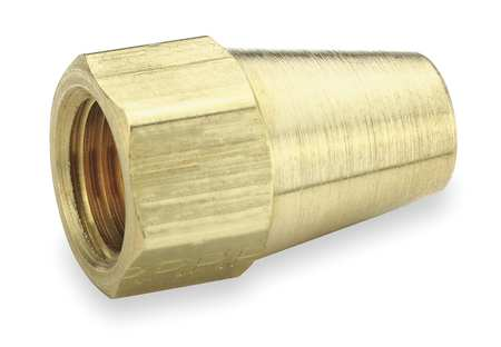 Long Nut, 45 deg, Brass, Tube, 1/2 In., PK10