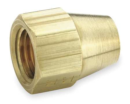 Short Nut, Brass, Tube, 3/16 In., PK10