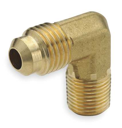 "3/4"" Flare x 1/2"" MNPT Brass 90 Degree Elbow 10PK"
