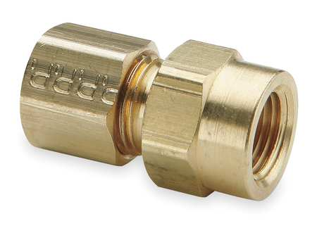 "5/16"" Compression x 1/8"" FNPT Brass Connector 10PK"