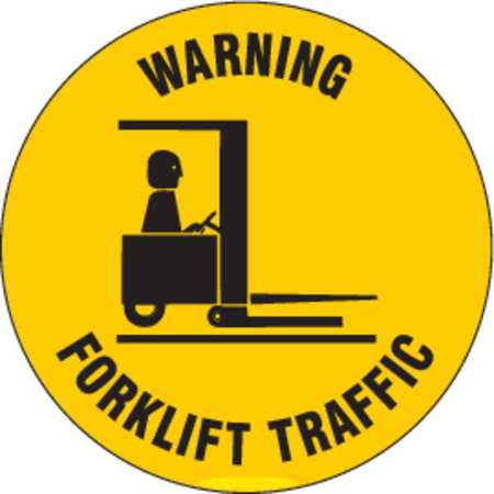 Warning Sign, 17 x 17In, BK/YEL, ENG, TRFC