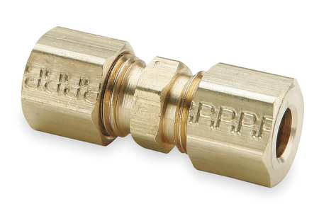 "1/4"" Compression x 3/16"" FNPT Brass Union Reducer 10PK"