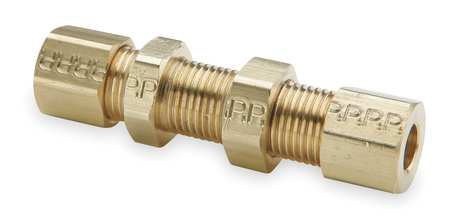 "1/4"" Compression Brass Bulkhead Union 10PK"