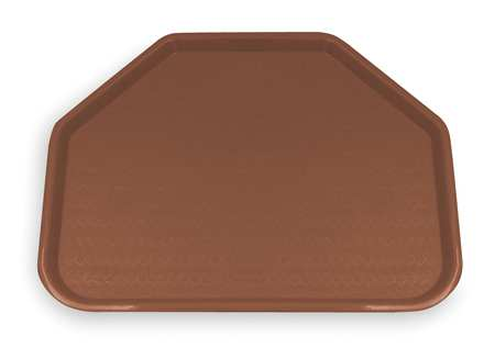 Service Tray, Trapezoid, Brown, PK12