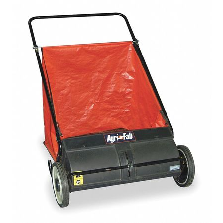 Push Lawn Sweeper, 26 In. Wide, 7 Cu. Ft.