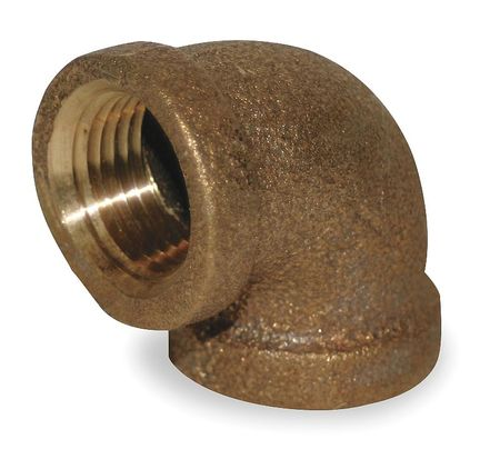 "1-1/4"" FNPT Red Brass 90 Degree Elbow"
