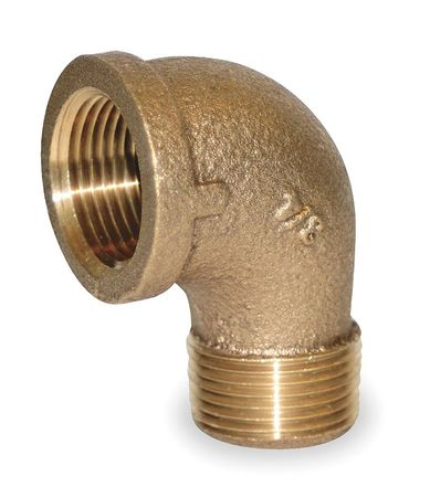 "1-1/2"" MNPT x FNPT Red Brass 90 Degree Street Elbow"