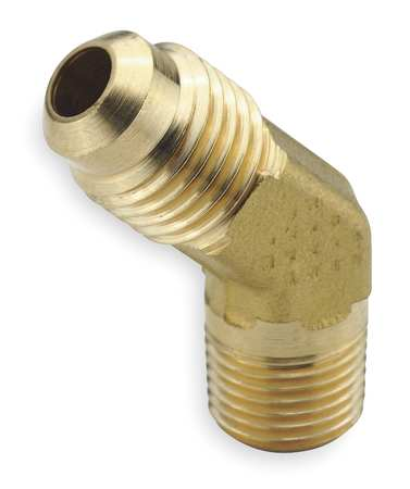 "1/2"" Flare x MNPT Brass 45 Degree Elbow 10PK"