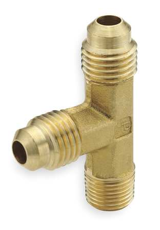 "5/8"" Flare Brass Male Run Tee 10PK"