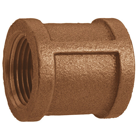 Coupling, Red Brass, 2 1/2 In, 125 PSI