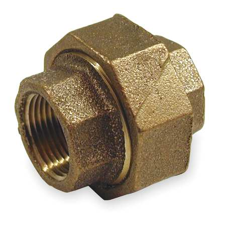 "1-1/2"" FNPT Red Brass Union"
