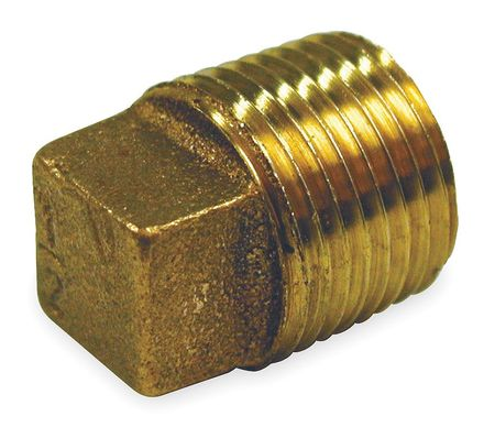 "1/8"" MNPT Red Brass Solid Plug"